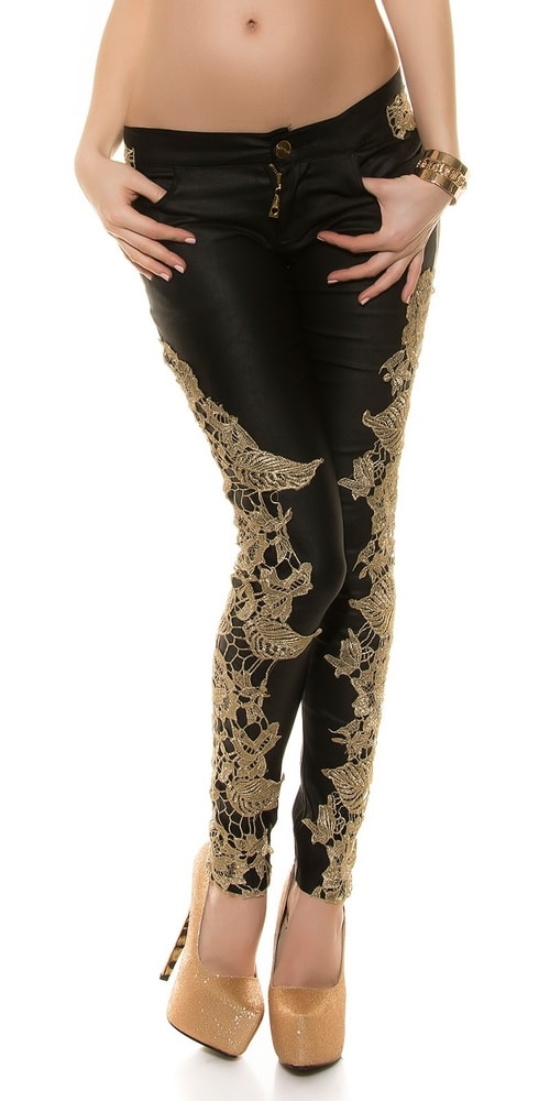 Čierne sexy nohavice - XL Koucla in-ka1156bl