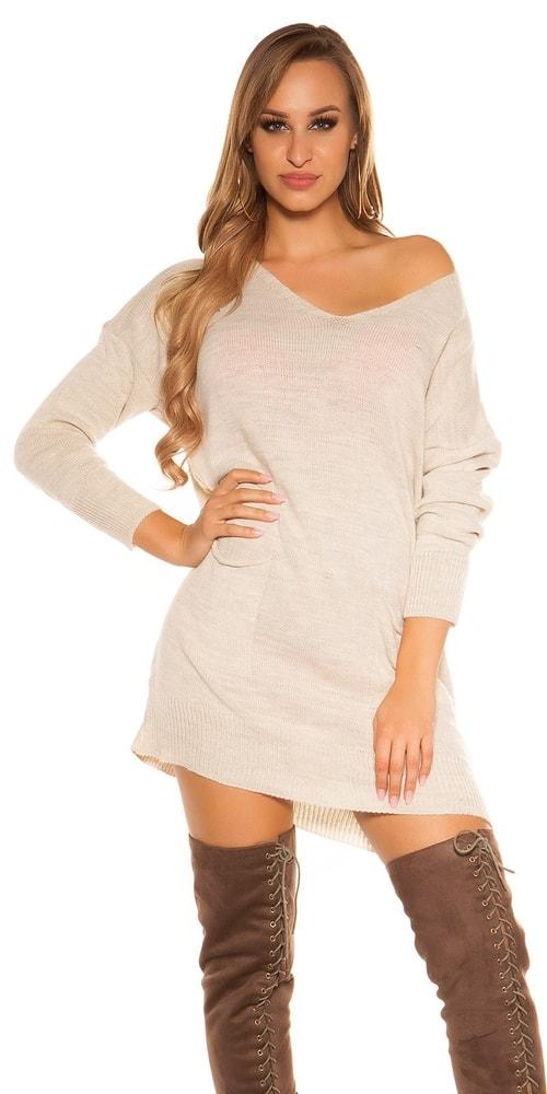 Pletené dámské mini šaty Koucla in-sat1904be