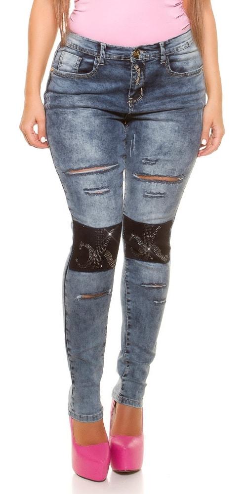 Trendy dámske džínsy - 38 Koucla in-ri1075