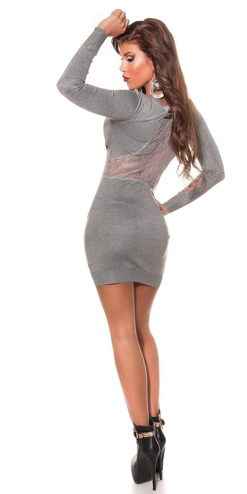 Úpletové dámské šaty Koucla in-sat1577gr