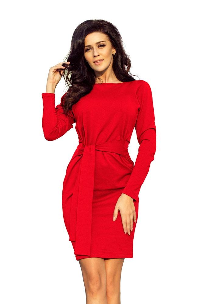 Červené dámské šaty - M Numoco nm-sat209-6