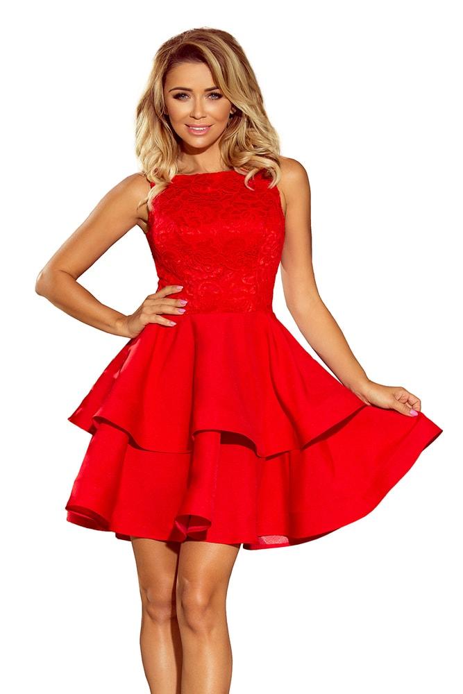 Červené plesové šaty Numoco nm-sat205-1
