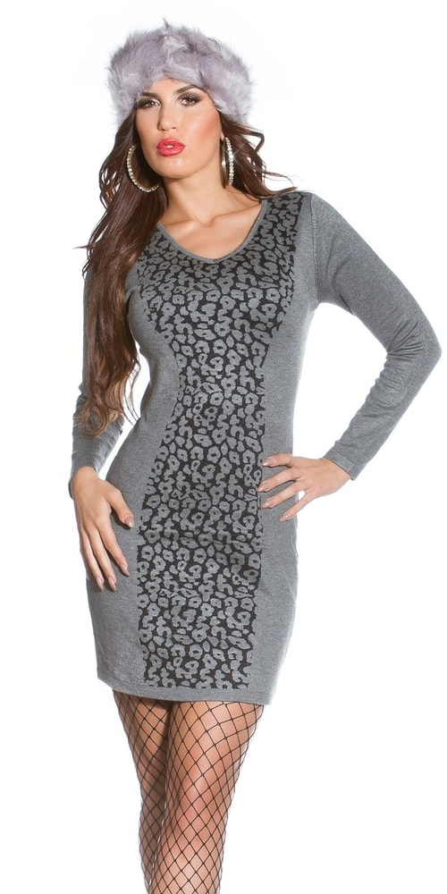 Dámské úpletové šaty Koucla in-sat1773gr
