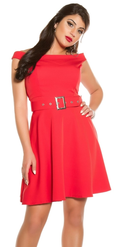Červené dámské šaty - M Koucla in-sat1842re