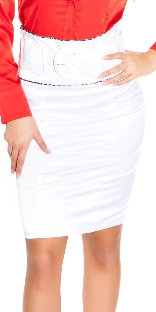 Elegantná sukňa s opaskom - 40 Koucla in-su1098wh
