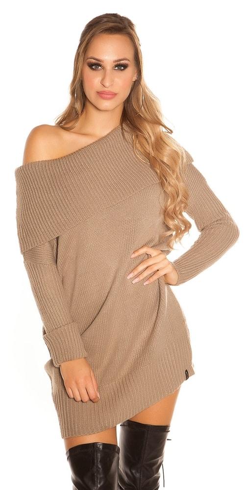 Dámske dlhšie pletené šaty Koucla in-sat1418ca