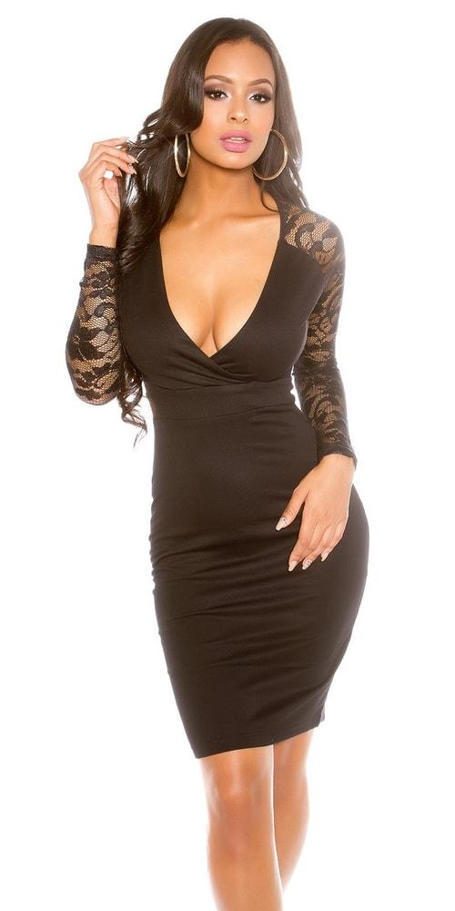Čierne elegantné šaty Koucla in-sat1280bl
