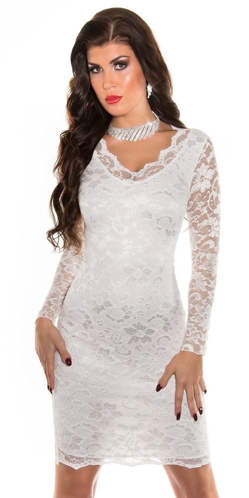 Čipkované elegantné šaty - 42 Koucla in-sat1742wh