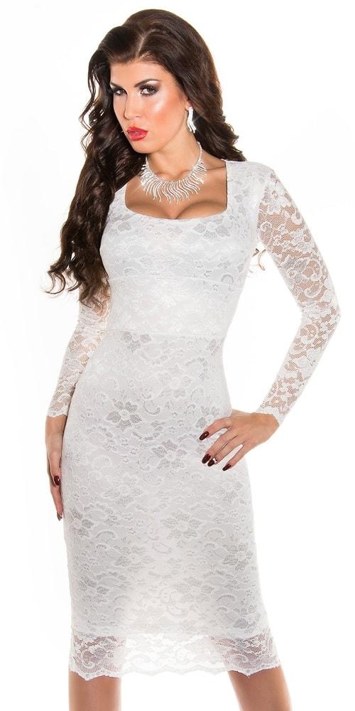 Biele večerné šaty - 42 Koucla in-sat1004wh