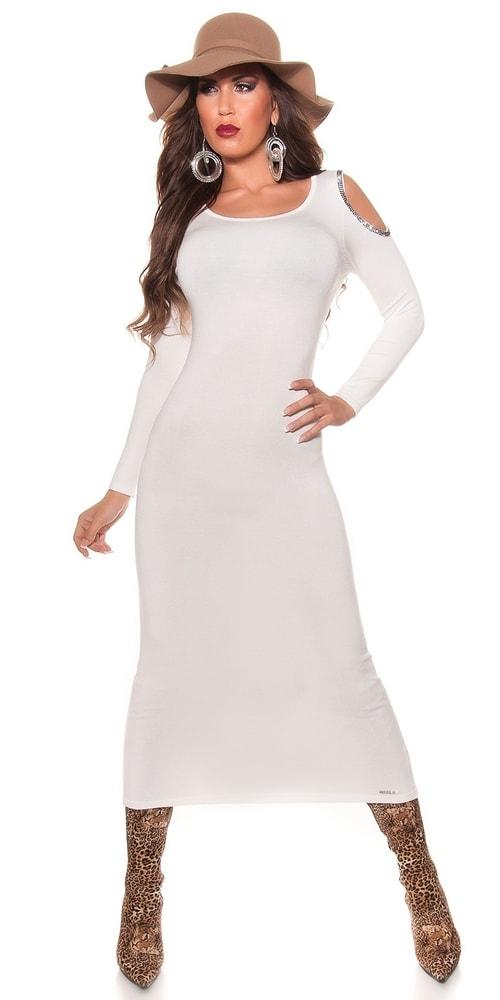 Úpletové dlhé šaty Koucla in-sat1058cr