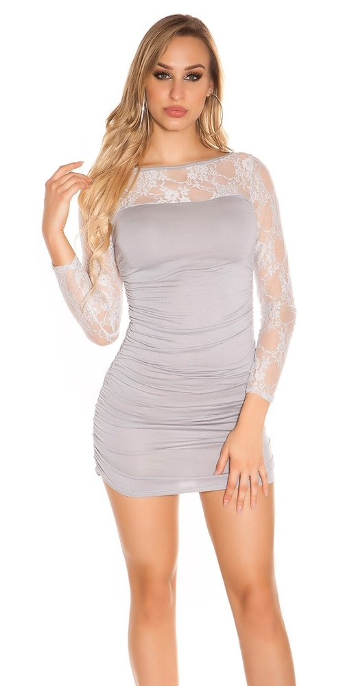 Dámske mini šaty s čipkou Koucla in-sat1059sg