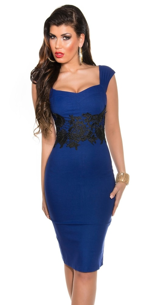 Večerné šaty modré - 38 Koucla in-sat1038mo