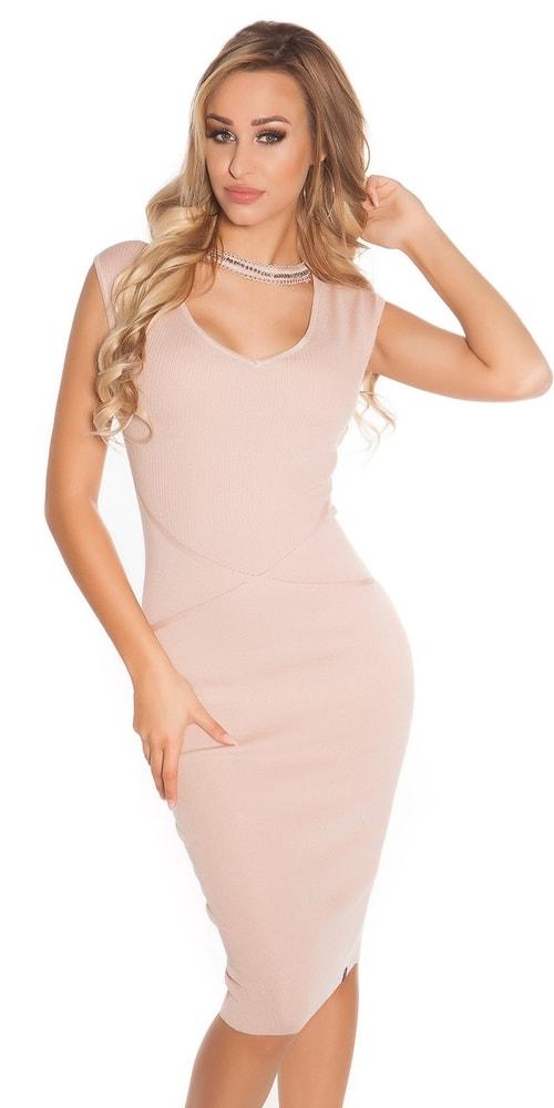 Elegantné úpletové šaty Koucla in-sat1581spi