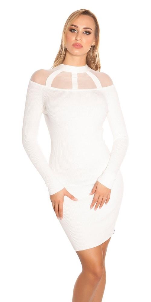 Dámske šaty z úpletu - S/M Koucla in-sat1701wh