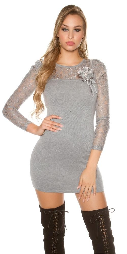 Dámske úpletové mini šaty Koucla in-sat1361gr