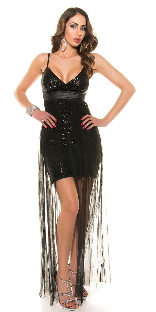 Spoločenské šaty čierne Koucla in-sat1223bl