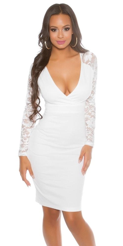 Elegantné šaty s čipkou - 38 Koucla in-sat1280wh