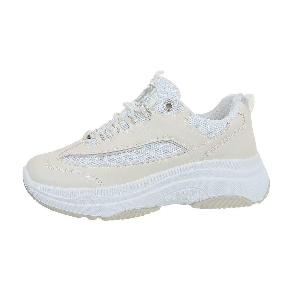 Biele tenisky na platforme - 36 EU shd-osn1233wh