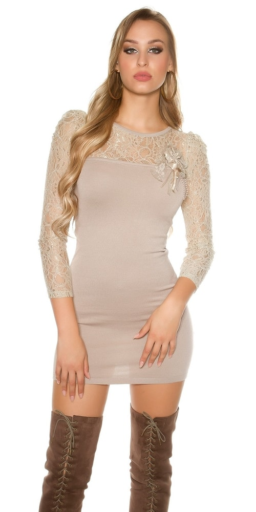 Dámske úpletové mini šaty Koucla in-sat1361be