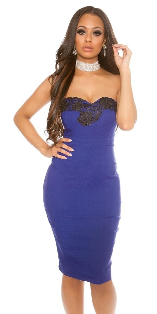 Puzdrové šaty modré Koucla in-sat1221mo