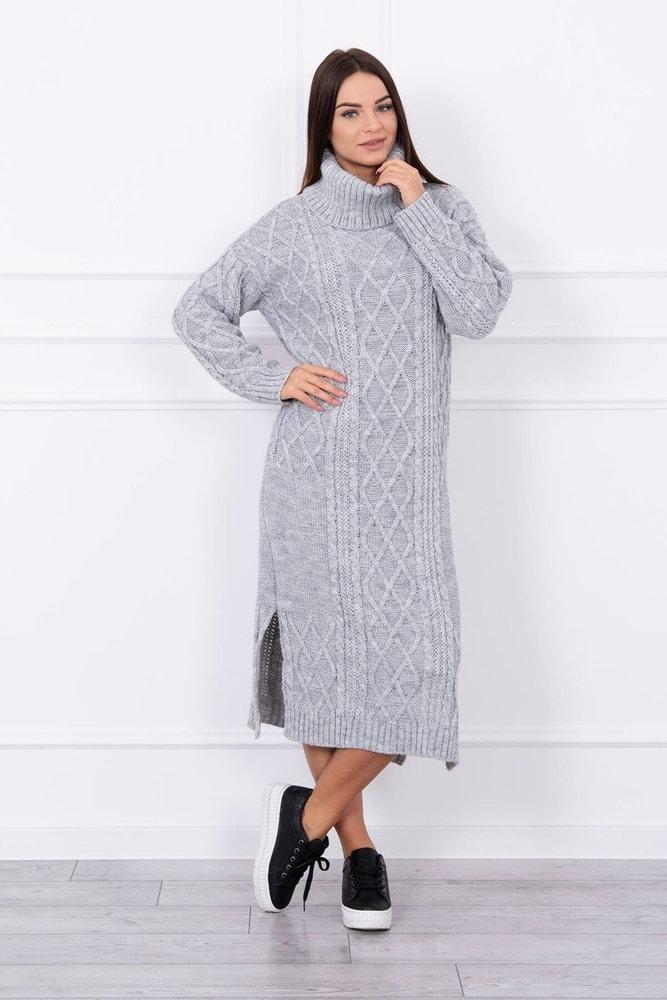Pletené šaty s rolákom Kesi ks-saS8481sg