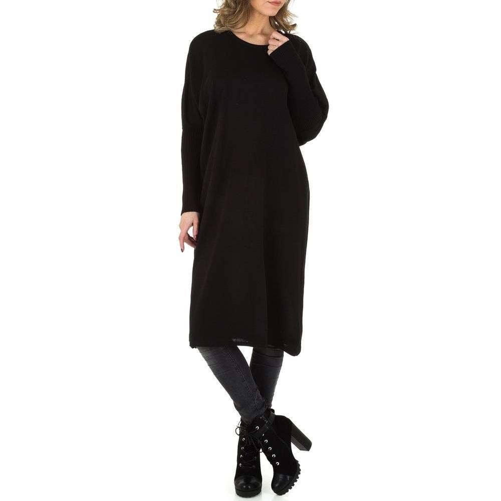 Dlouhé šaty z úpletu EU shd-sat1001bl
