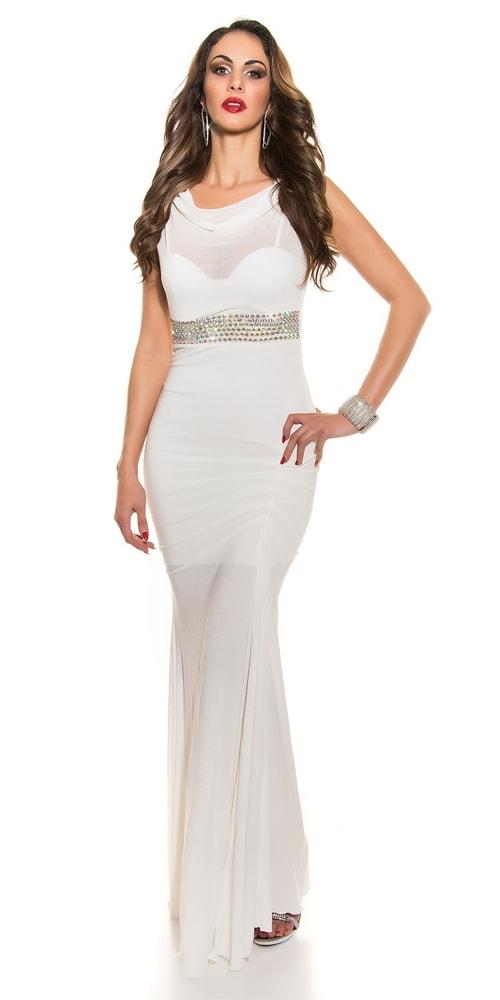 Krásné plesové šaty - II. jakost Koucla in-sat1203wh-v