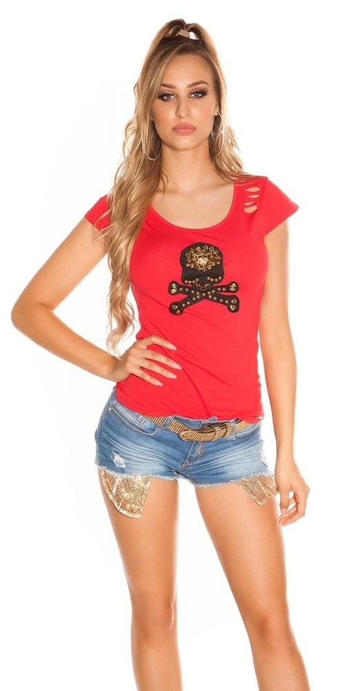 Červené dámske tričko Koucla in-tr1110re