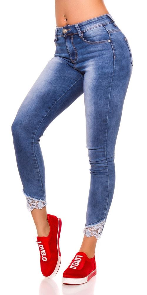 Dámske džínsy s čipkou Koucla in-ri1592