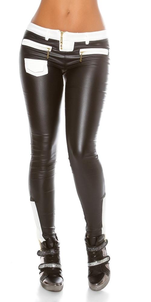 Moderné čierne dámske nohavice - XL Koucla in-ka1126bl
