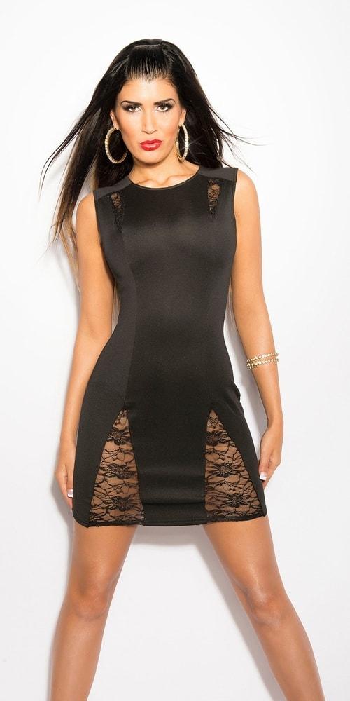 Čierne dámske šaty Koucla in-sat1110bl