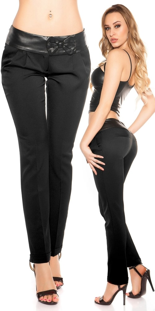 Dámske čierne nohavice - 42 Koucla in-ka1174bl