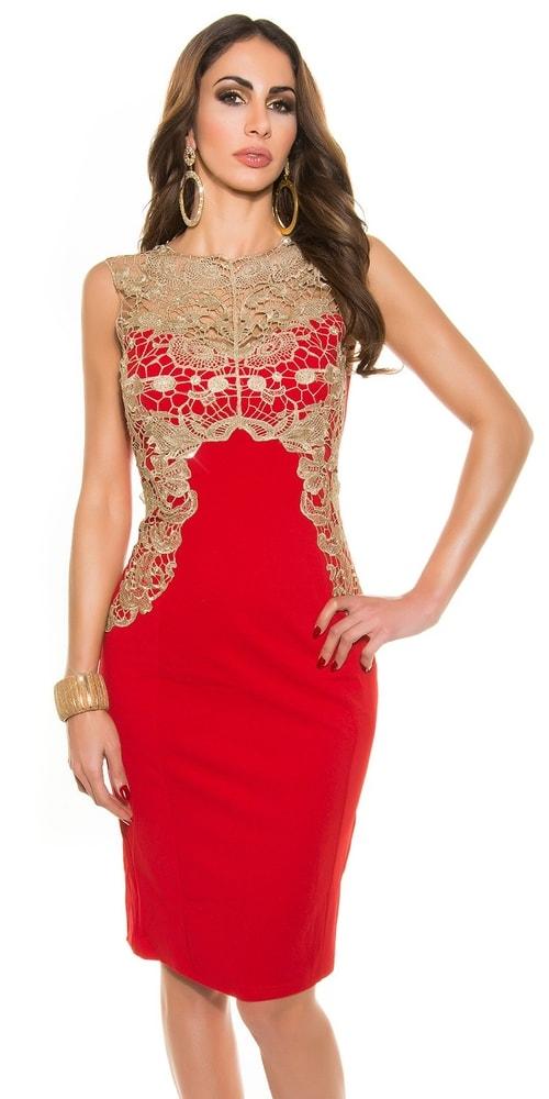 Dámske puzdrové šaty - červené Koucla in-sat1119re