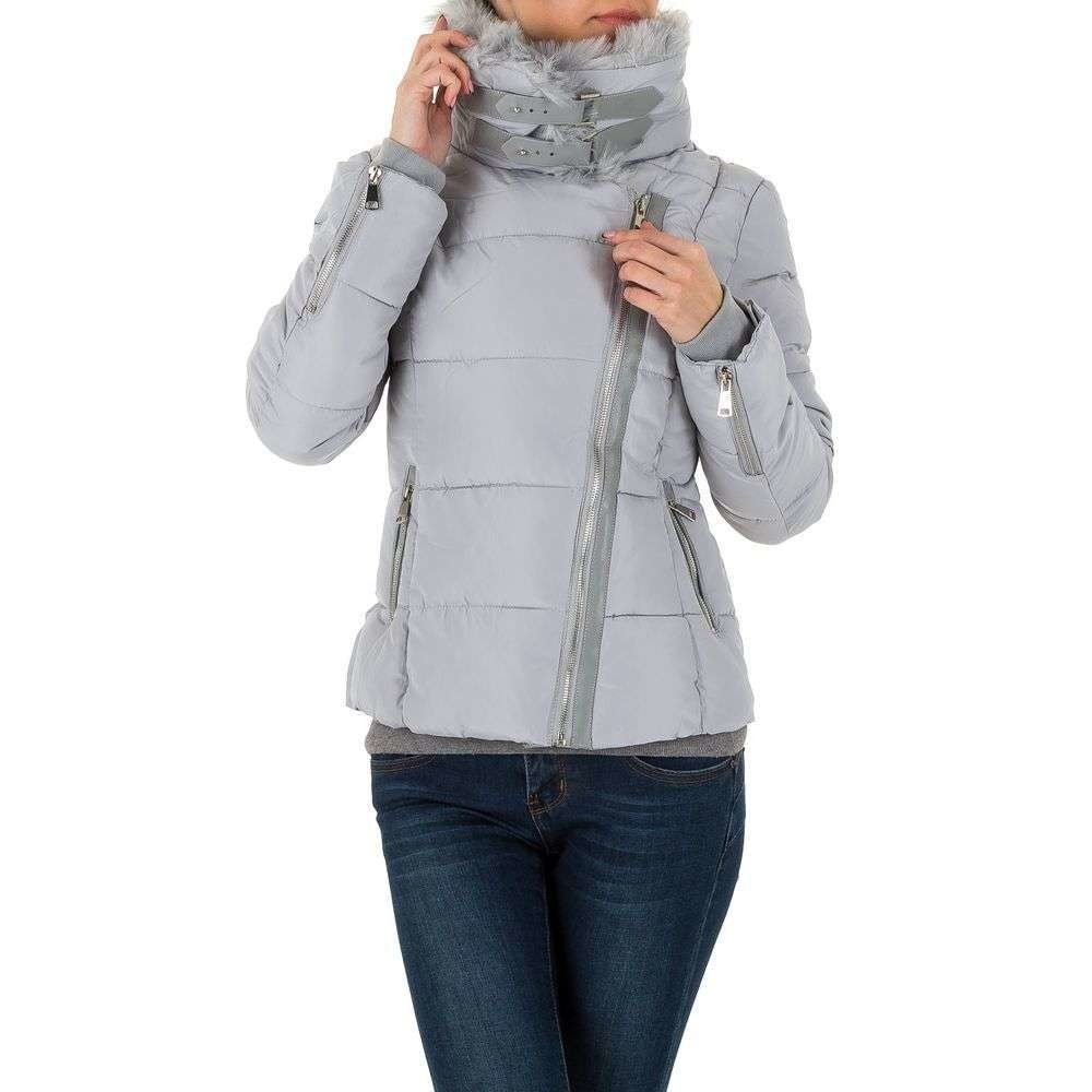 Šedá dámska zimná bunda EU shd-bu1006gr