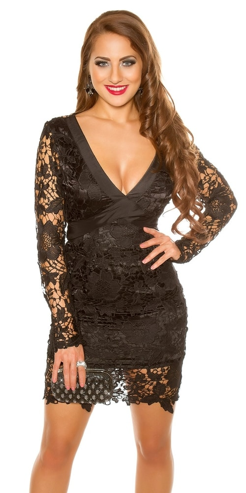 Puzdrové šaty čierne - M Koucla in-sat1699bl