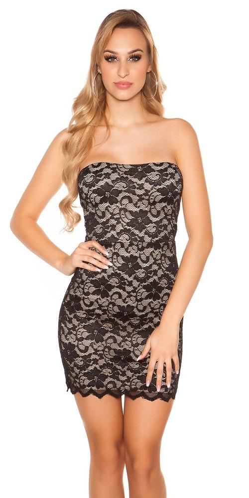 Večerné dámske mini šaty Koucla in-sat1341bl