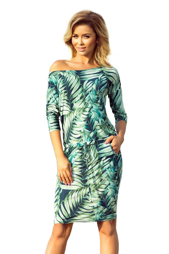 Dámské šaty - zelené listy Numoco nm-sat13-92