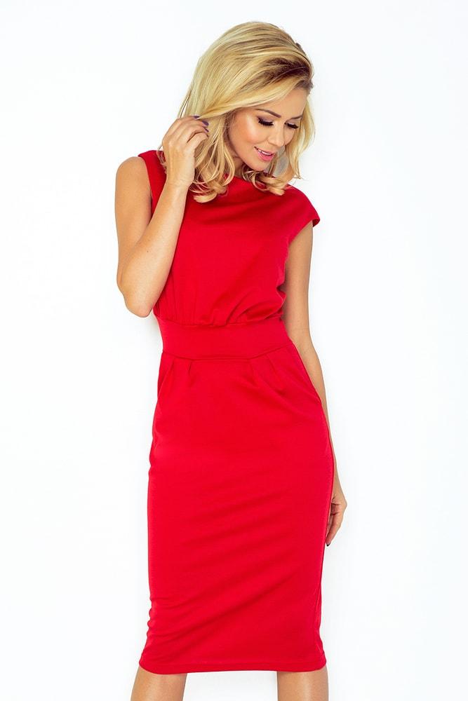 Červené dámske šaty - M Numoco nm-sat144re