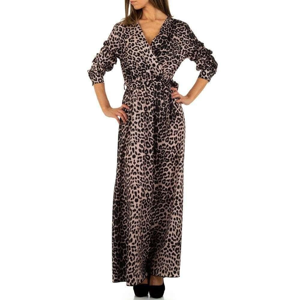 Dlouhé šaty s leopardím motivem EU shd-sat1084leo