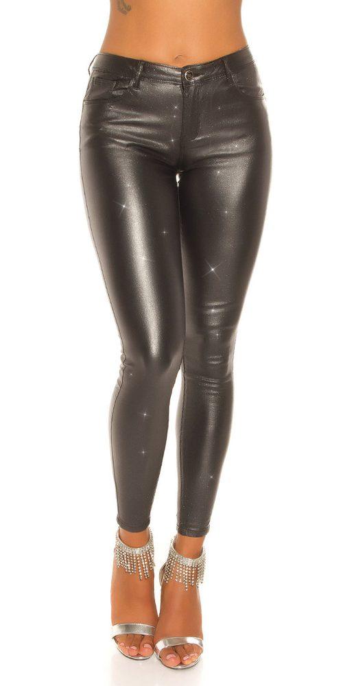 Čierne dámske nohavice - L Koucla in-ka1337bl