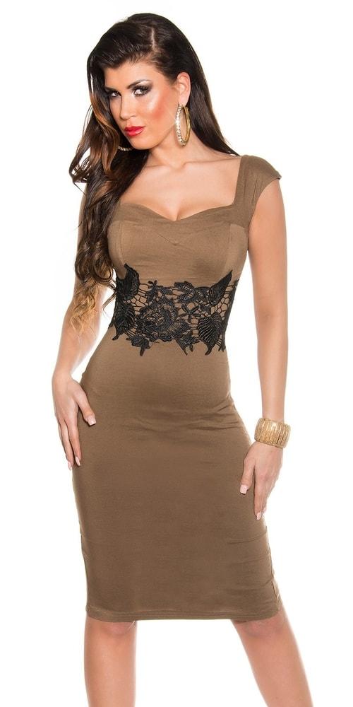 Večerné šaty hnedé Koucla in-sat1038ca