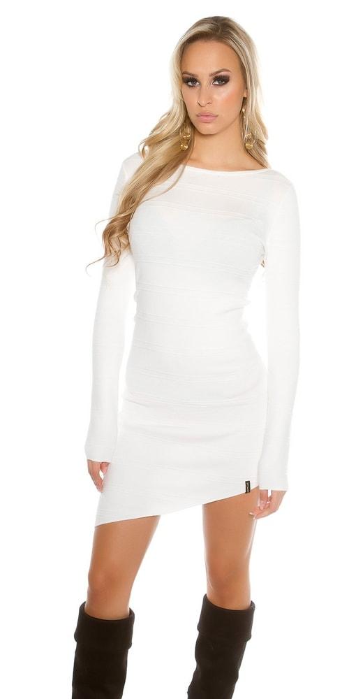 Dámske úpletové mini šaty Koucla in-sat1289wh
