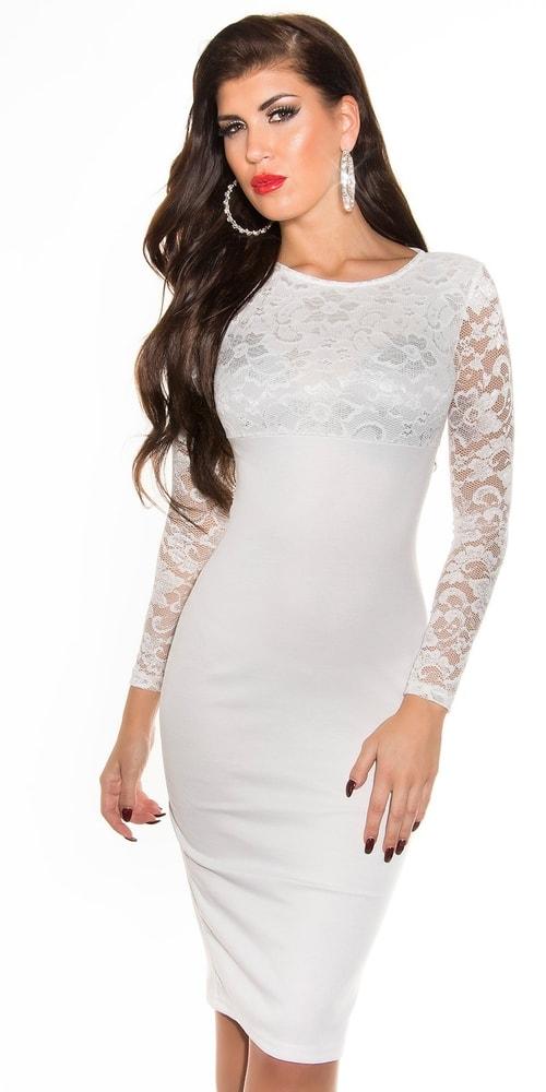 Dámske čipkové šaty - 42 Koucla in-sat1710wh