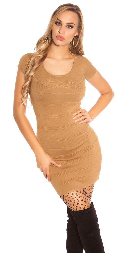 Úpletové dámské mini šaty Koucla in-sat1687ka