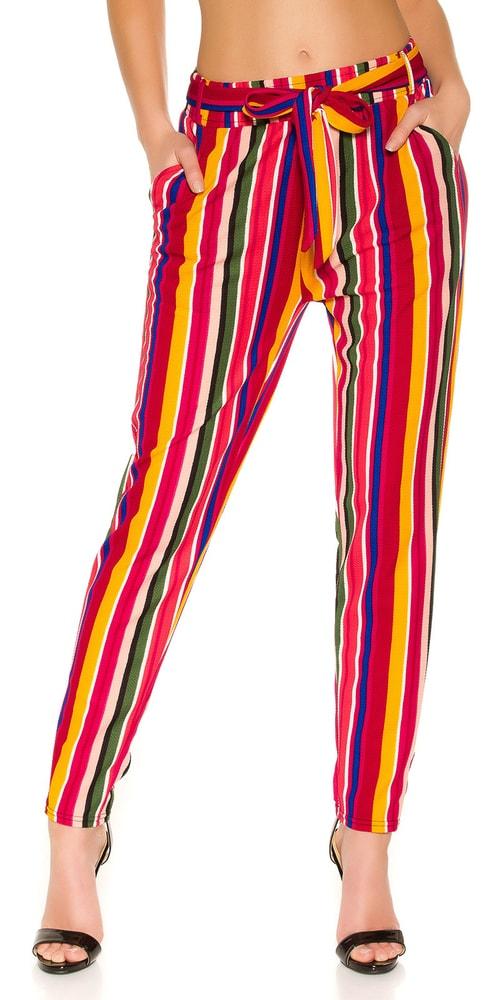 Dámske pruhované nohavice Koucla in-ka1308se