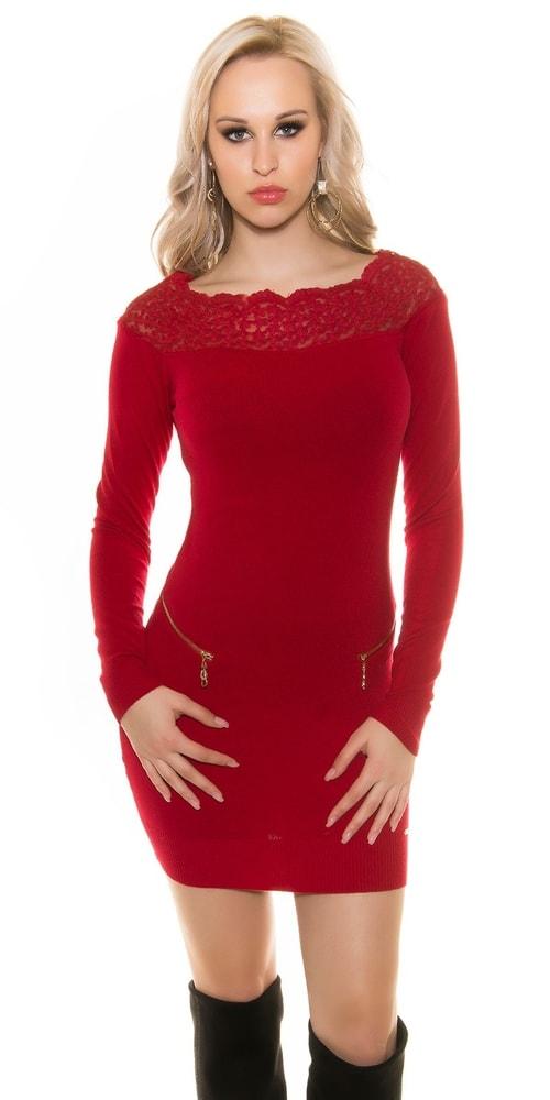Elegantné šaty s čipkou - S/M Koucla in-sv1454re