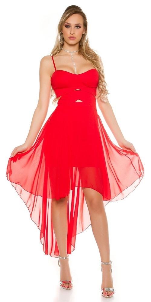 Červené plesové šaty Koucla in-sat1562re