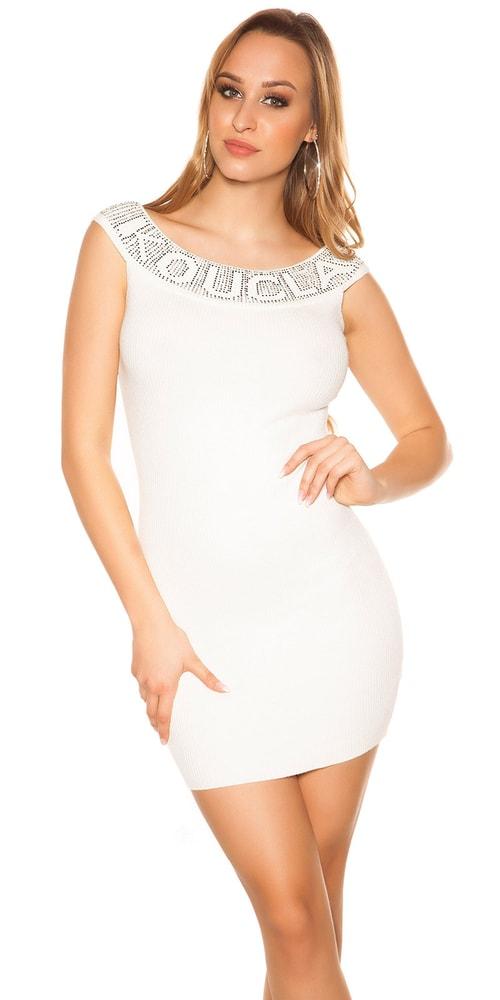 Úpletové mini šaty Koucla in-sat1981wh