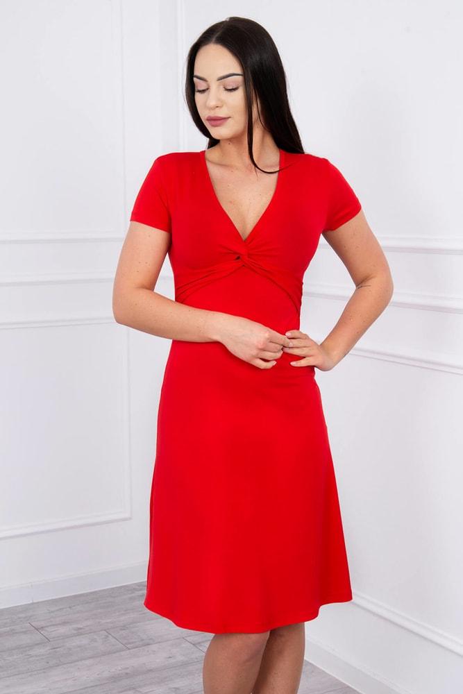 Letní červené šaty - S Kesi ks-sa8884re