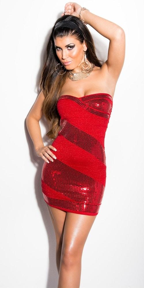 Červené dámské mini šaty Koucla in-sat1738re